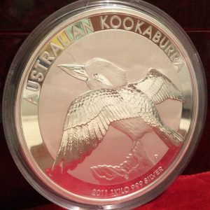 2012 Australian 1 Kilo Silver Kookaburra Large Coin