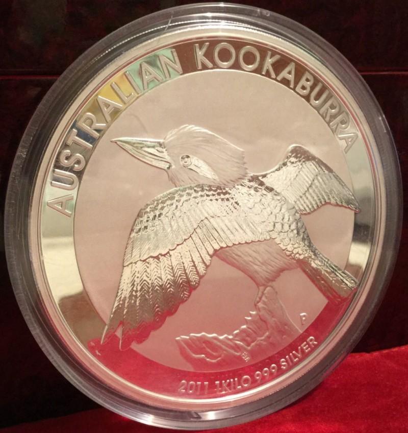 2011 Australian Perth Mint 1 Kilo Silver 999 Kookaburra