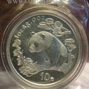 1997 china silver panda