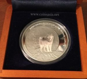 2003 Mongolia Wolf Silver 500 Togrog Proof