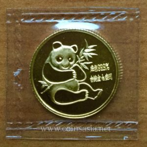 1982 China Gold 1/10th oz Panda Coin