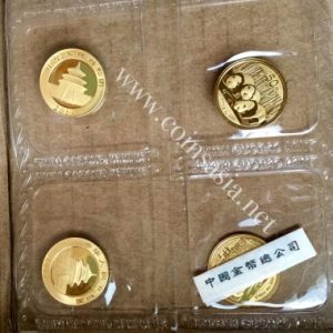 2013 China 1/10 oz Gold Panda (Mint Issued) Coin Sheet