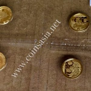 2013 China 1/20 oz Gold Panda (Mint Issued) Coin Sheet