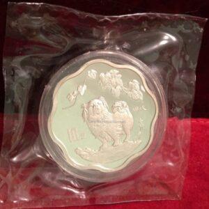 china plum blossom scallop silver coin