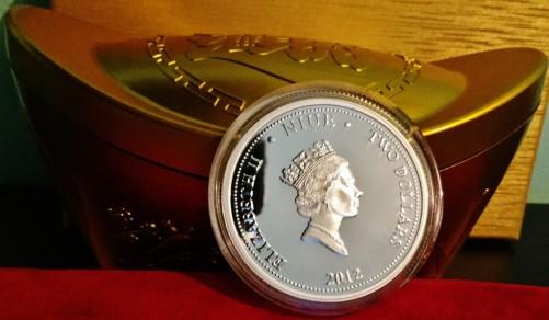 2012 new zealand silver dragon coin