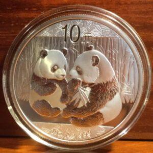 2009 china silver panda coin