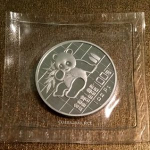 1989 CHINA Platinum PT100Y Panda Proof 1 oz Coin