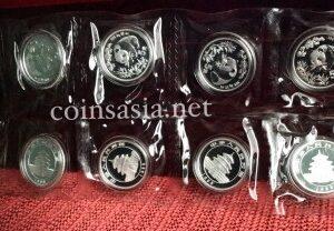 1998 Chinese Silver 5 Yuan 1/2 oz Panda 10 Coin Sheet (KEY DATE)
