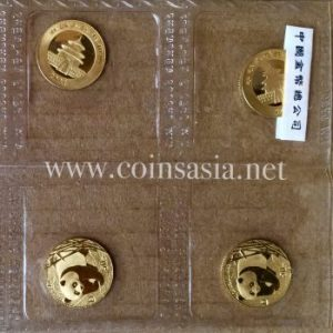2001 China 'D' 1/10 oz Gold Panda (Mint Issued) Coin Sheet